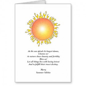 Summer Solstice Blessing Greeting Card card