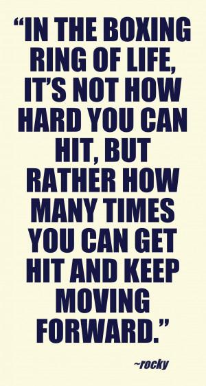 The boxing ring of life #quotes #allanapratt