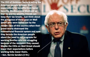 Bernie Sanders Wall Street Standards