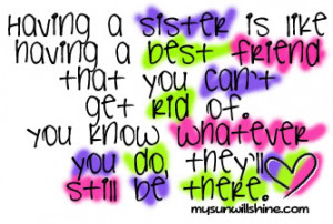 LOVE MY SISTER! Sisters are special. Sisters are friends. They laugh ...