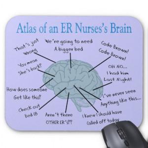 Atlas of an ER Nurse's Brain Gifts Mouse Pads