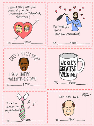 Hudson dwight schrute Ed Helms valentines Andy Bernard Valentine's Day ...
