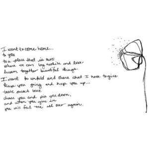 want to come home to you... i want forever quote