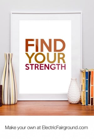 Find your strength Framed Quote