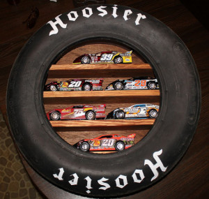 Hoosier Tire Shelf made from Actual Race Tire / Die Cast Cars ...