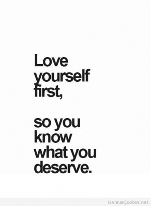Love Yourself Quotes Tumblr Love yourself first quote