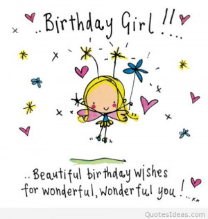 Funny Happy birthday girl quote