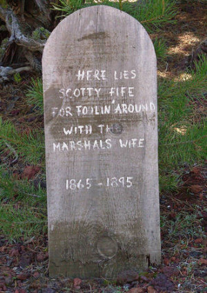 Nine More Funny Tombstone Tales to go: