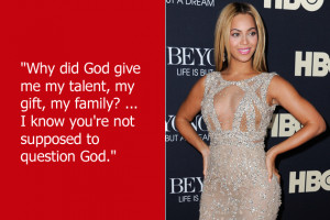 Beyonce is of the opinion that you shouldn't question the invisible ...