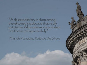 library quotes murakami kafka on the shore bode-museum berlin statues