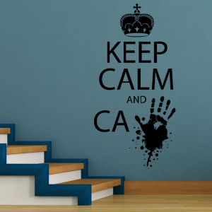 Keep Calm And C Zombie Wall Sticker 1