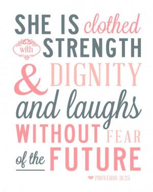... 31 Verse | Proverbs 31:25 Scripture, Quote, Verse Art Print 8x10