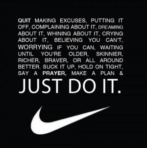 "Think training's hard? Try losing."" – Nike"