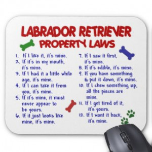 LABRADOR RETRIEVER Property Laws mousepad