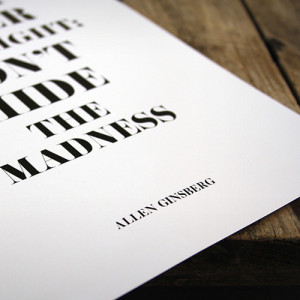 Allen Ginsberg poster by OurBrokenHouse