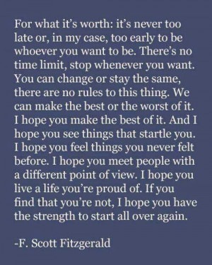 Love F. Scott Fitzgerald Quotes. One of my favorite quotes and writers ...