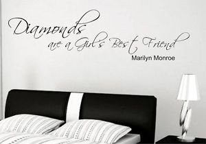 Marilyn-Monroe-Diamonds-Girls-Best-Friend-Vinyl-Wall-Art-Quote-Decal ...