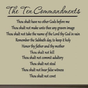 The Ten Commandments Wall Decals Quotes Words Sayings Home Decor