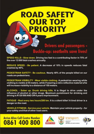Road Safety Our Top Priority….