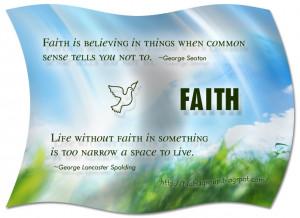 Keep the faith ! Best of Faith Quotes