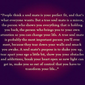 have a whole new outlook on soul mates after reading this. - @ooh ...