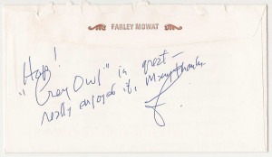 "Farley Mowat on ""Grey Owl And Me"""