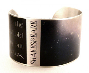 Shakespeare Destiny Quote, Stars and Galaxy Jewelry, Literature Book ...