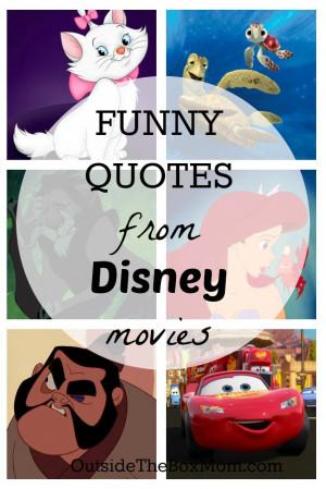 disney movie quotes funny