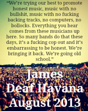 This quote above is from Reading Festival 2013, and I have so much ...
