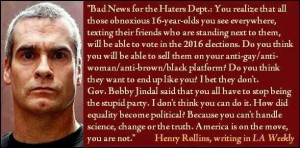 Henry Rollins political quote
