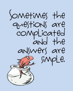 Dr seuss quotes sayings questions answers simple