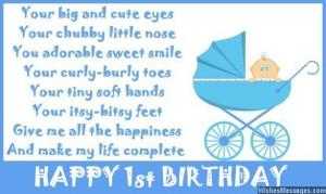 1st Birthday Poems: Happy First Birthday Poems