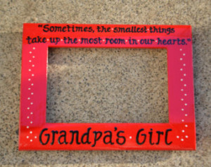 Custom Grandpa's Girl or Boy with Quote 4x6 Handpainted & Personalized ...