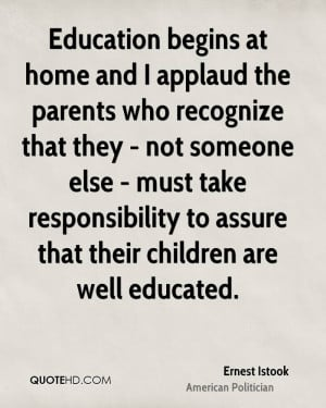 ... take responsibility to assure that their children are well educated