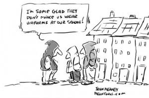 Cartoon: School Uniforms (medium) by John Meaney tagged school,uniform ...