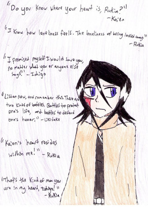 Anime Quotes - 3 Rukia by gingagirl95