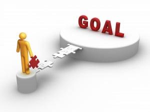 man going towards his goal