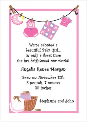 Pink Clothesline Adoption Announcement areBecoming Very Popular!