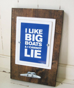 Framed 5x7 Quote Print with Boat Cleat Table Top via Etsy
