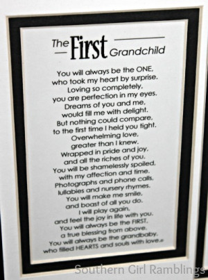 Mother's Day Gift Idea: My First Grandchild Frame