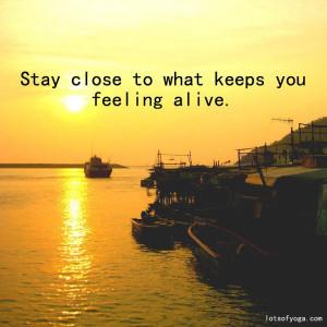 feel alive quote