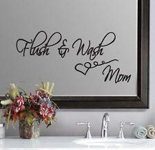 Flush & Wash Bathroom Mom Wall Quote Sticker Decal 11