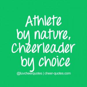 Athlete by nature, Cheerleader by choice #cheer #cheerleader # ...