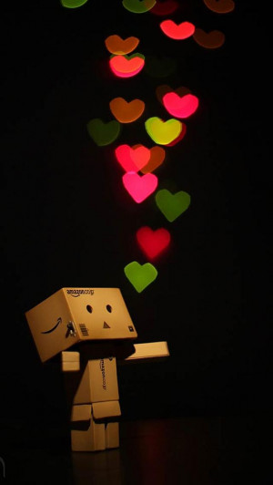 Cute Danbo love backgrounds for iphone 5
