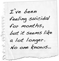 ve been feeling suicidal for months, but it seems like a lot longer ...
