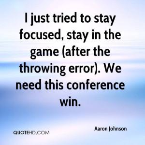 Aaron Johnson Quotes