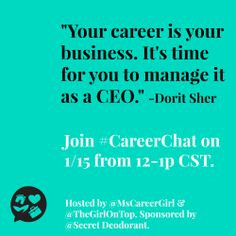 Self Career Quotes by Dorit Sher~Your Career Is Your Business. It's ...