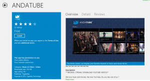 Enjoy HD Quality YouTube Videos with Andatube app in Windows 8