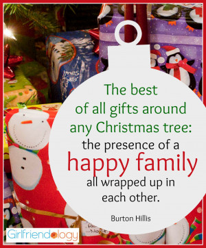 of all gifts around any Christmas tree: the presence of a happy family ...