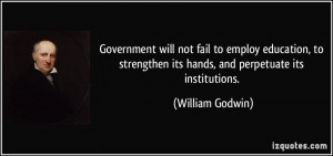 above all we should not forget that government is an evil a